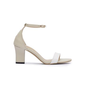 Jane TT White Block Heels