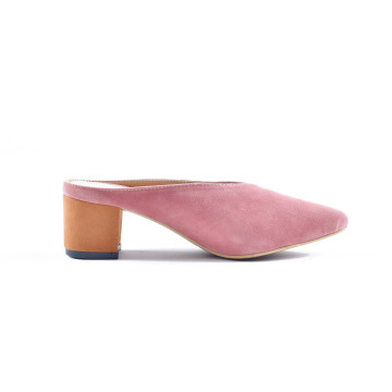 Zee Pink Heeled Mules