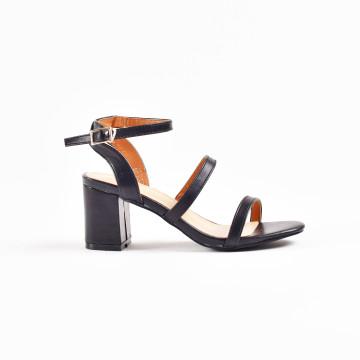 Merry Black Strap Heels