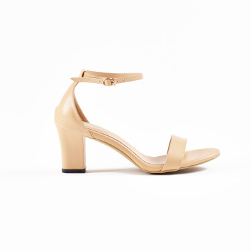 Jane Nude Block Heels