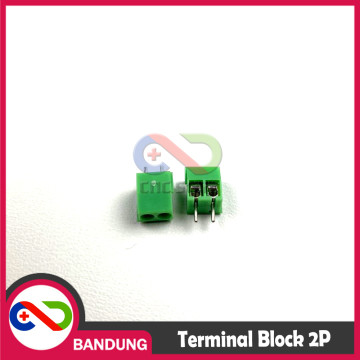 KF-350 KF350 GREEN TERMINAL BLOCK HIJAU GREEN 2PIN 2P 2 PIN SCREW 3.5MM