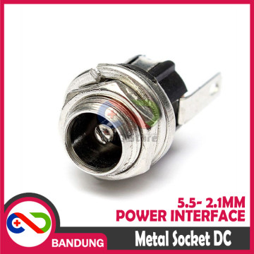 DC-021 METAL SOCKET DC  POWER INTERFACE 5.5- 2.1MM DC-0005