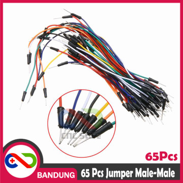 65PCS JUMPER CABLE MALE TO MALE FOR BREADBOARD