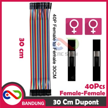 40PCS JUMPER CABLE KABEL 30CM FEMALE TO FEMALE DUPONT FOR BREADBOARD