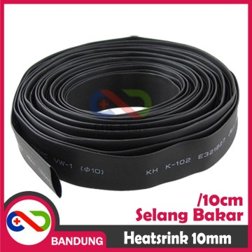 HEATSHRINK 10MM HEAT SHRINK SELANG SELONGSONG BAKAR PER 10CM