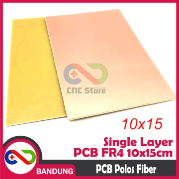 PCB POLOS SINGLE LAYER FR4 FIBER 10X15CM