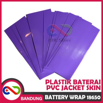 BATTERY  WRAP 18650 COLOR PLASTIK BATERAI PVC JACKET SKIN