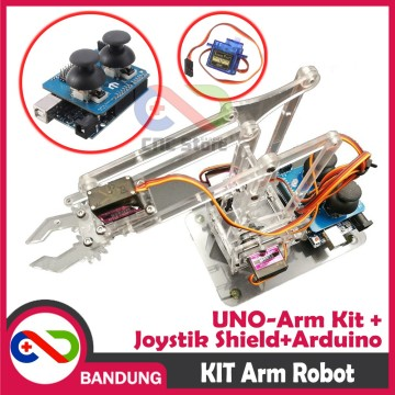 ROBOT ARM KIT PARTS UNOARM SHIELD FOR ARDUINO UNO JOYSTIK