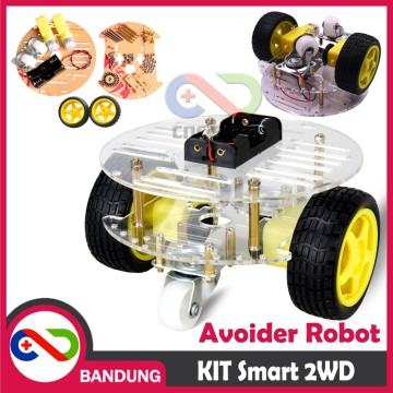 KIT SMART CAR CHASSIS CHASIS 2WD SUMO ROBOT OBSTACLE AVOIDANCE DIY