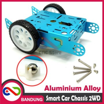 SMART CAR CHASSIS 2WD ALUMINIUM ALLOY ROBOT BLUE WHEEL LINE FOLLOWER DIY