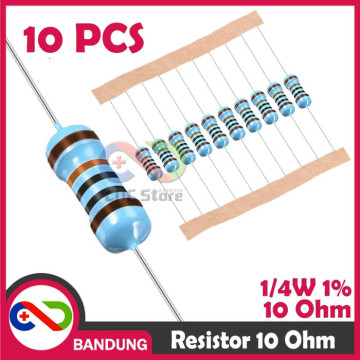 10X RESISTOR 10 10OHM 1/4W 1% METAL FILM