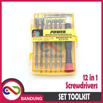 SCREWDRIVERS 12 IN 1 MULTI SET TOOLKIT IMPACTER