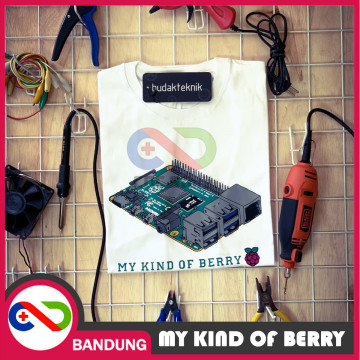 T-SHIRT KAOS RASPBERRY BAJU ANAK TEKNIK ARDUINO IOT MY KIND OF BERRY