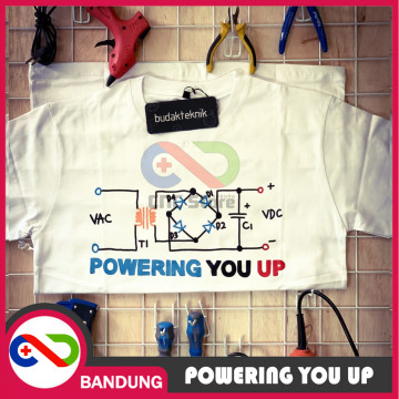 T-SHIRT KAOS POWERING YOU UP BAJU ANAK TEKNIK ARDUINO IOT RASPBERRY