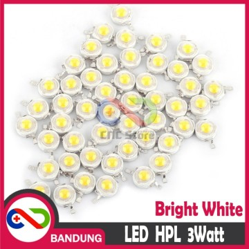 LED HPL PUTIH HIGHT POWER LED 3WD BEAD BRIGHT WHITE 3WW45WL3