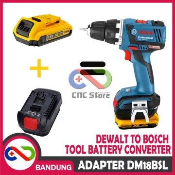 ADAPTER BATERAI 18V DEWALT TO BOSCH TOOL BATTERY CONVERTER DM18BSL
