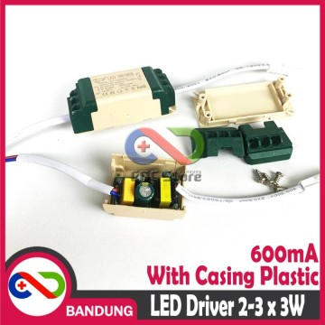 LED DRIVER 2-3X3W 3 WATT 600 mA DLYG0302N WITH CASING PLASTICK