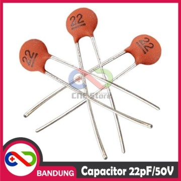 CAPACITOR CERAMIC 22PF/50V