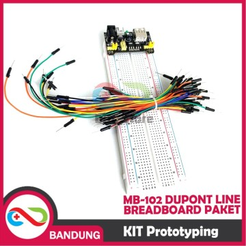 KIT PROTOTYPING MB-102 DUPONT LINE BREADBOARD PAKET PAPAN PERCOBAAN