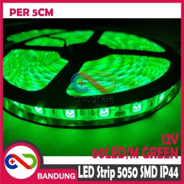LAMPU LED STRIP LIGHT MATA BESAR 5050 SMD IP44 OUTDOOR 5 METER HIJAU