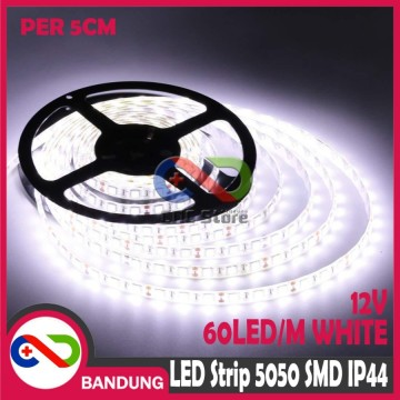 LAMPU LED STRIP LIGHT MATA BESAR 5050 SMD IP44 OUTDOOR  5 CM PUTIH