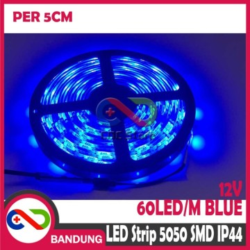 LAMPU LED STRIP LIGHT MATA BESAR 5050 SMD IP44 OUTDOOR 5 CM BIRU
