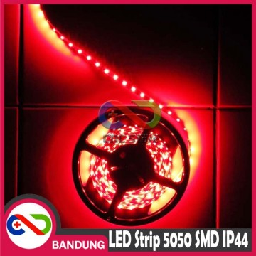 LAMPU LED STRIP LIGHT MATA BESAR 5050 SMD IP44 OUTDOOR 5 CM MERAH