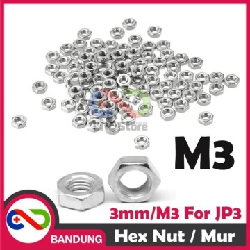 MUR 3MM 10PCS HEX NUT 3MM FOR SPACER JP3 M3 HEX NUTE BAUD 3MM