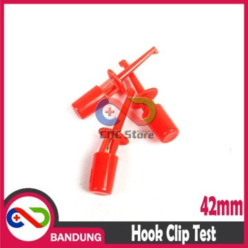 HOOK CLIP TEST 42MM KLIP PENJEPIT CONNECTOR KAIL PENGAIT IC MERAH