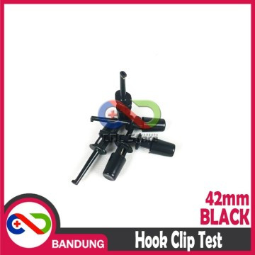 42MM HOOK CLIP TEST KLIP PENJEPIT CONNECTOR KAIL PENGAIT IC HITAM
