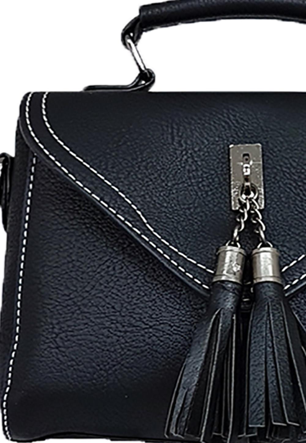 Catriona Gelisa Top Handle Bag Black Brown