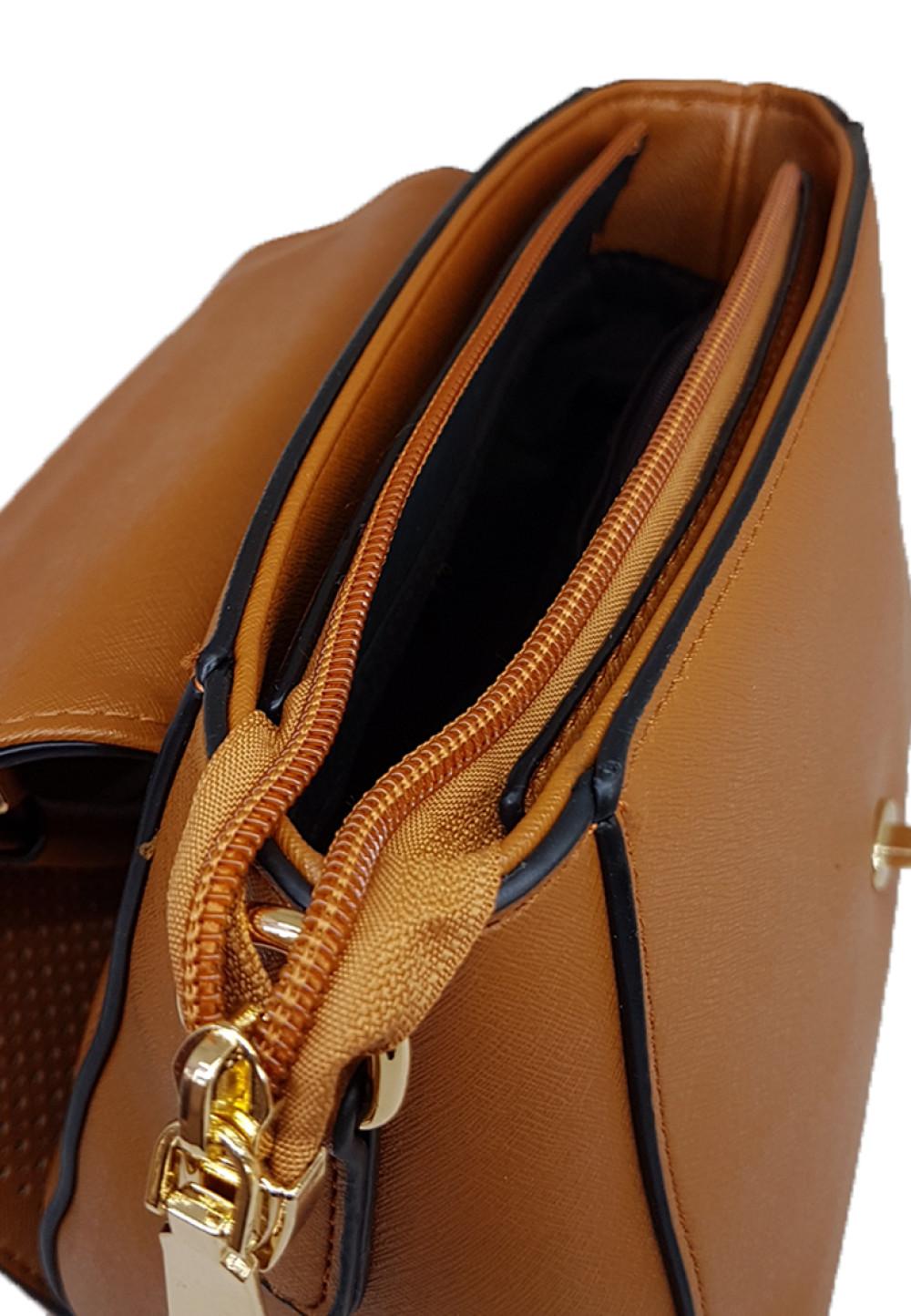 Catriona Calice Top Handle Bag Brown Agatha
