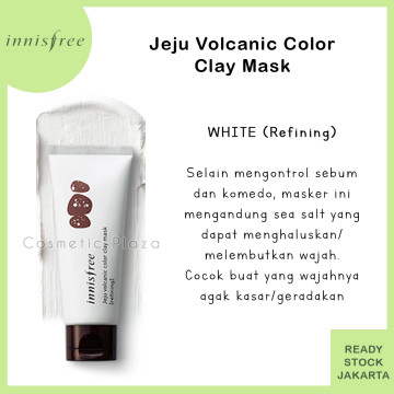 Innisfree Jeju Volcanic Color Clay Mask White (refining)