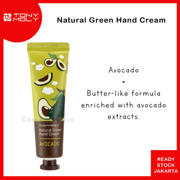 Tony Moly Natural Green Food Hand Cream 30ml Avocado