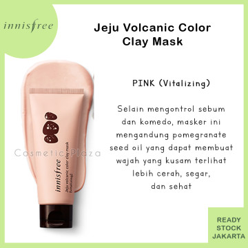 Innisfree Jeju Volcanic Color Clay Mask Pink (vitalizing)