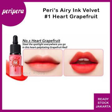 Peripera Airy Ink The Velvet 1. Heart Grapefruit