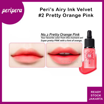 Peripera Airy Ink The Velvet 2. Pretty Orange Pink