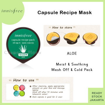 INISFREE Capsule Recipe Pack Aloe - Moist & Soothing (COLD PACK)