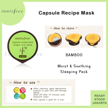 INISFREE Capsule Recipe Pack Bamboo - Moist & Soothing