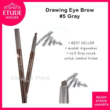 Drawing Eye Brow 36mm (longer) 05 Grey
