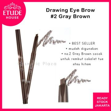 Drawing Eye Brow 36mm (longer) 02 Grey Brown