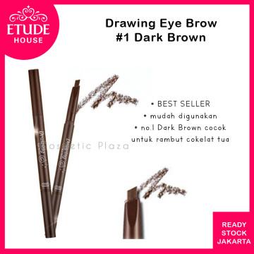Drawing Eye Brow 36mm (longer) 01 Dark Brown