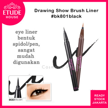 Etude House Drawing Show Brush Liner BK801 Black