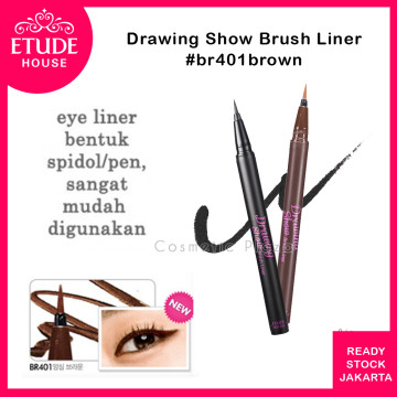 Etude House Drawing Show Brush Liner BR401 Brown