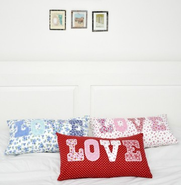 Red Spotty Love Cushion