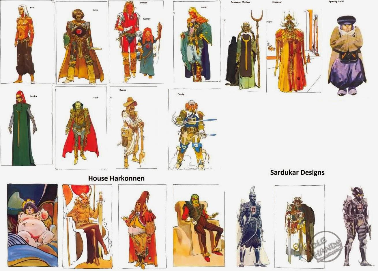 Jodorowsky Dunes Character Design 2