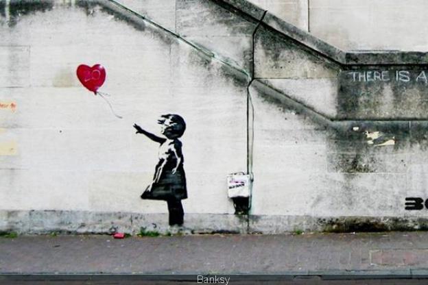 Banksy litle girl