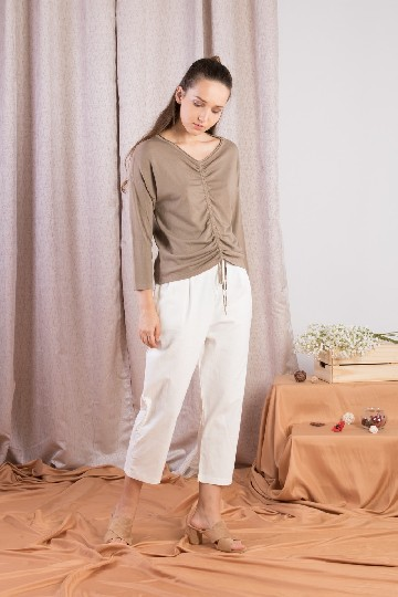 Gathy Knit Top