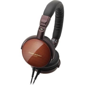 Audio Technica ESW9 Wooden Headphone - Hitam/Cokelat image