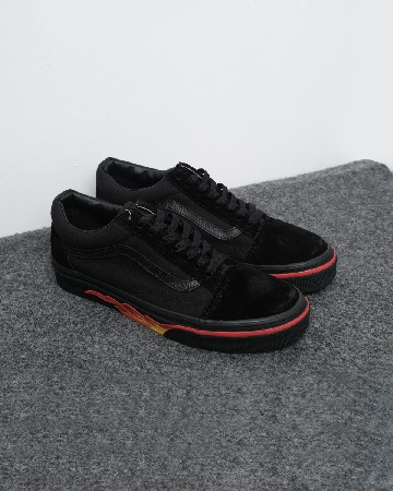 Vans Old Skool Flame Wall Black Red 13211